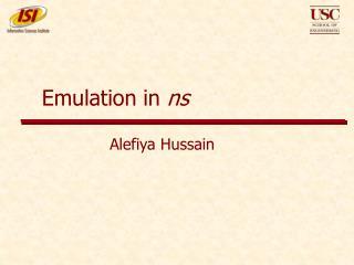 Emulation in ns