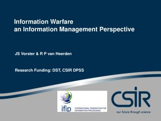 Information Warfare an Information Management Perspective