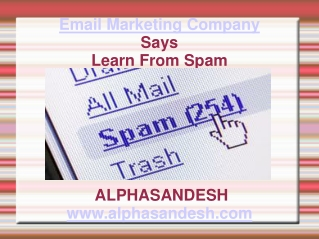 email marketing company says leran from spam