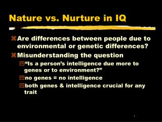 discuss nature vs nurture in gender The nature-versus-nurture debate regarding gender differences has been around  for quite some time, and as it turns out, there is still no public.