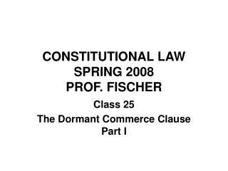 CONSTITUTIONAL LAW SPRING 2008 PROF. FISCHER