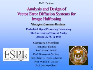 Analysis and Design of Vector Error Diffusion Systems for Image Halftoning