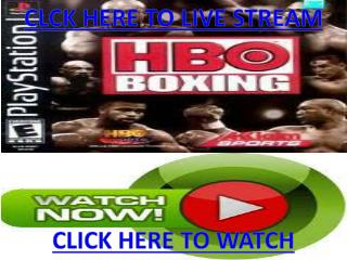 Timothy Bradley vs Devon Alexander Live Streaming Sopcasting