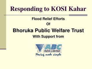 Responding to KOSI Kahar