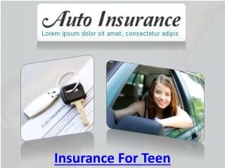 Insurance For Teen