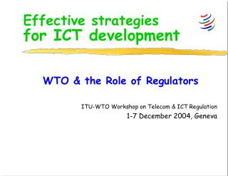 Effective strategies for ICT development