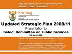 Updated Strategic Plan 2008