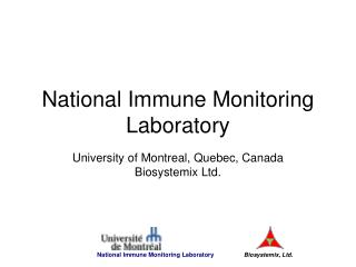 National Immune Monitoring Laboratory
