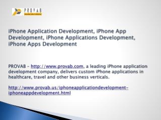 iPhone Application Development, iPhone App Development