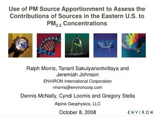 Use of PM Source Apportionment to Assess the Contributions of Sources in the Eastern U.S. to PM2.5 Concentrations