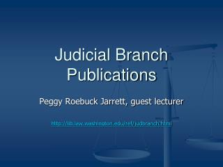 Judicial Branch Publications
