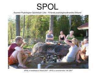 SPOL:in kes kokous Iitiss  2007 - SPOL:s sommarm te i Iitti 2007