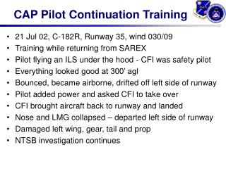CAP Pilot Continuation Training