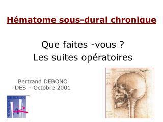 H matome sous-dural chronique