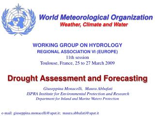 Drought Assessment and Forecasting