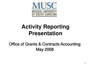 Activity Reporting Presentation