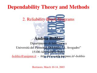 Dependability Theory and Methods  2. Reliability Block Diagrams