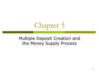 Multiple Deposit Creation and  the Money Supply Process