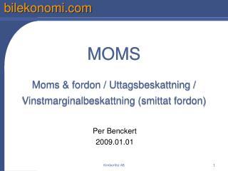 MOMS  Moms  fordon