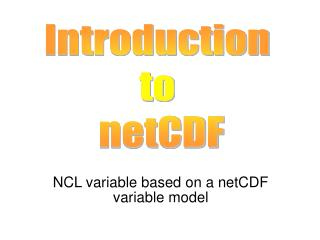 NCL variable based on a netCDF variable model