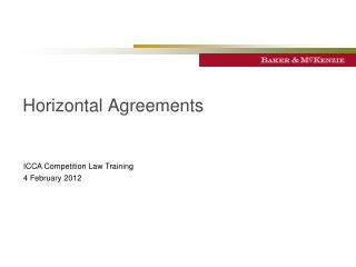 Horizontal Agreements