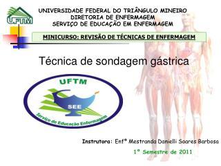 UNIVERSIDADE FEDERAL DO TRI NGULO MINEIRO DIRETORIA DE ENFERMAGEM SERVI O DE EDUCA  O EM ENFERMAGEM