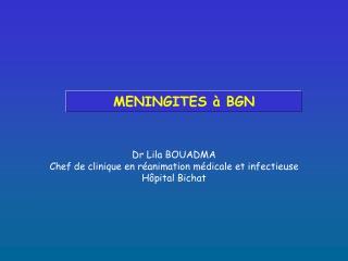 MENINGITES   BGN