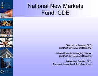 National New Markets  Fund, CDE