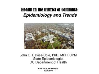 Health in the District of Columbia: Epidemiology and Trends