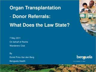 Benguela Health Pty Ltd 2011
