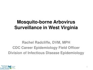 Mosquito-borne Arbovirus Surveillance in West Virginia