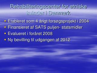 Rehabiliteringscenter for etniske kvinder i Danmark