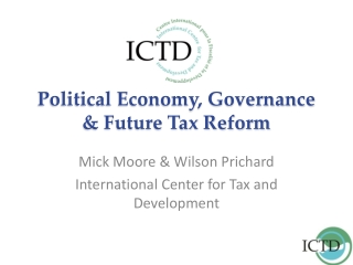 ICTD Presentation to World Bank Workshop