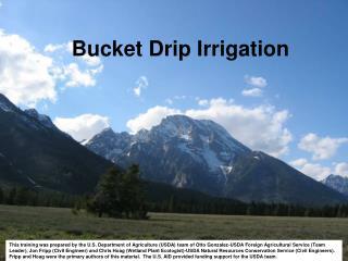 Bucket Drip Irrigation