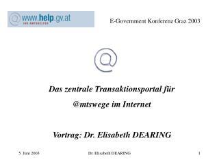 E-Government Konferenz Graz 2003