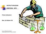 RISTRUTTURAZIONE   DEBITORIA   INPS     Prime indicazioni    Bari, 24 Ottobre  06        A cura di Rosa Anna Devito Resp