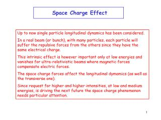 Space Charge Effect