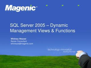 SQL Server 2005   Dynamic Management Views  Functions