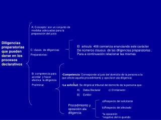 A: Concepto: son un conjunto de medidas adecuadas para la preparaci n del juicio