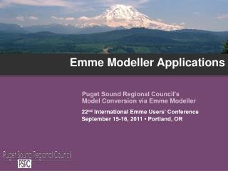 Emme Modeller Applications