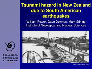Tsunami hazard in New Zealand due to South American earthquakes