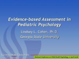 Evidence-based Assessment in Pediatric Psychology