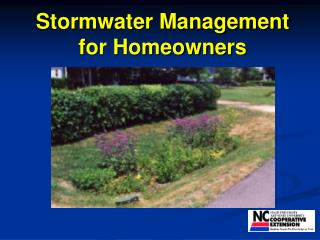 Stormwater Management for Homeowners