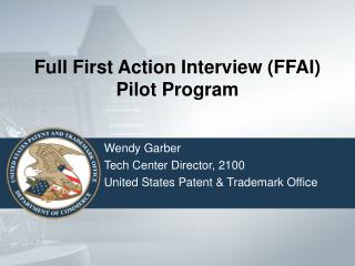 Full First Action Interview FFAI Pilot Program