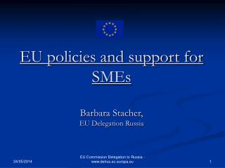 EU policies and support for SMEs  Barbara Stacher,  EU Delegation Russia