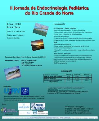 II Jornada de Endocrinologia Pedi trica  do Rio Grande do Norte