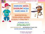 Arif Hepbasli - Ege  niversitesi                                                                     27. Enerji Verimlil