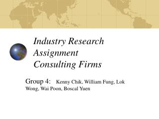 Industry Research Assignment Consulting Firms