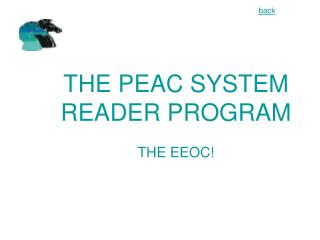THE PEAC SYSTEM READER PROGRAM  THE EEOC
