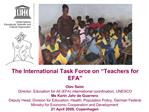 The International Task Force on  Teachers for EFA
